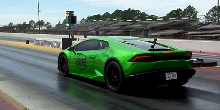 Watch A Street Legal Lamborghini Huracan Blast An 8 3 Second Quarter