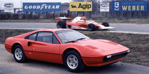 "<p>This isn't the first V8 Ferrari–that'd be the Bertone-designed Dino <a href=""http://www.roadandtrack.com/car-culture/classic-cars/videos/a27235/why-this-ferrari-collector-loves-the-least-loved-ferrari-the-most/"" target=""_blank"">308 GT4</a>–but it is the one that was the template for nearly all to come. Thanks to its starring role in <em>Magnum PI</em>, the <a href=""http://www.roadandtrack.com/car-culture/a25528/drive-flashback-1977-ferrari-308-gtb/"" target=""_blank"">308 GTB</a> is an icon.</p>"