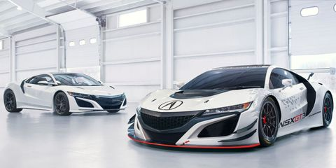 This Is The Rear Drive Acura Nsx Gt3 Racer