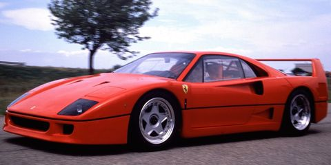 "<p>Ferrari wanted to build the world's greatest street car with the <a href=""http://www.roadandtrack.com/new-cars/first-drives/reviews/a25595/first-look-flashback-1987-ferrari-f40/"" target=""_blank"">F40</a>, in celebration of its 40th anniversary. So, that's exactly what it did. The F40's shape isn't traditionally beautiful, but it looks aggressive and purposeful. Also, wing.<span></span></p>"