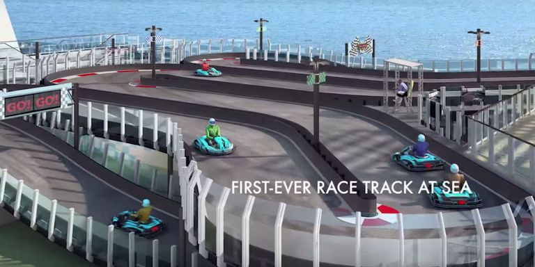 This Cruise Ship Has A GoKart Track And Suddenly A Cruise Sounds - Track a cruise ship