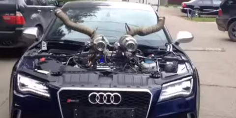 Audi RS7 External Turbos