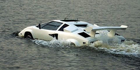 "The World's Only Amphibious ""Lamborghini Countach"" Is for Sale on eBay"