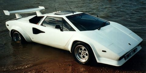 The World S Only Amphibious Lamborghini Countach Is For Sale On Ebay