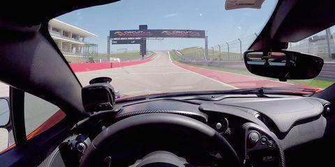 McLaren P1 Onboard COTA