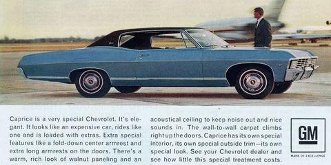 Chevrolet Caprice ad