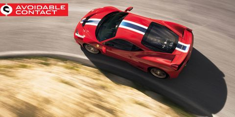 Ferrari 458 Speciale Avoidable Contact