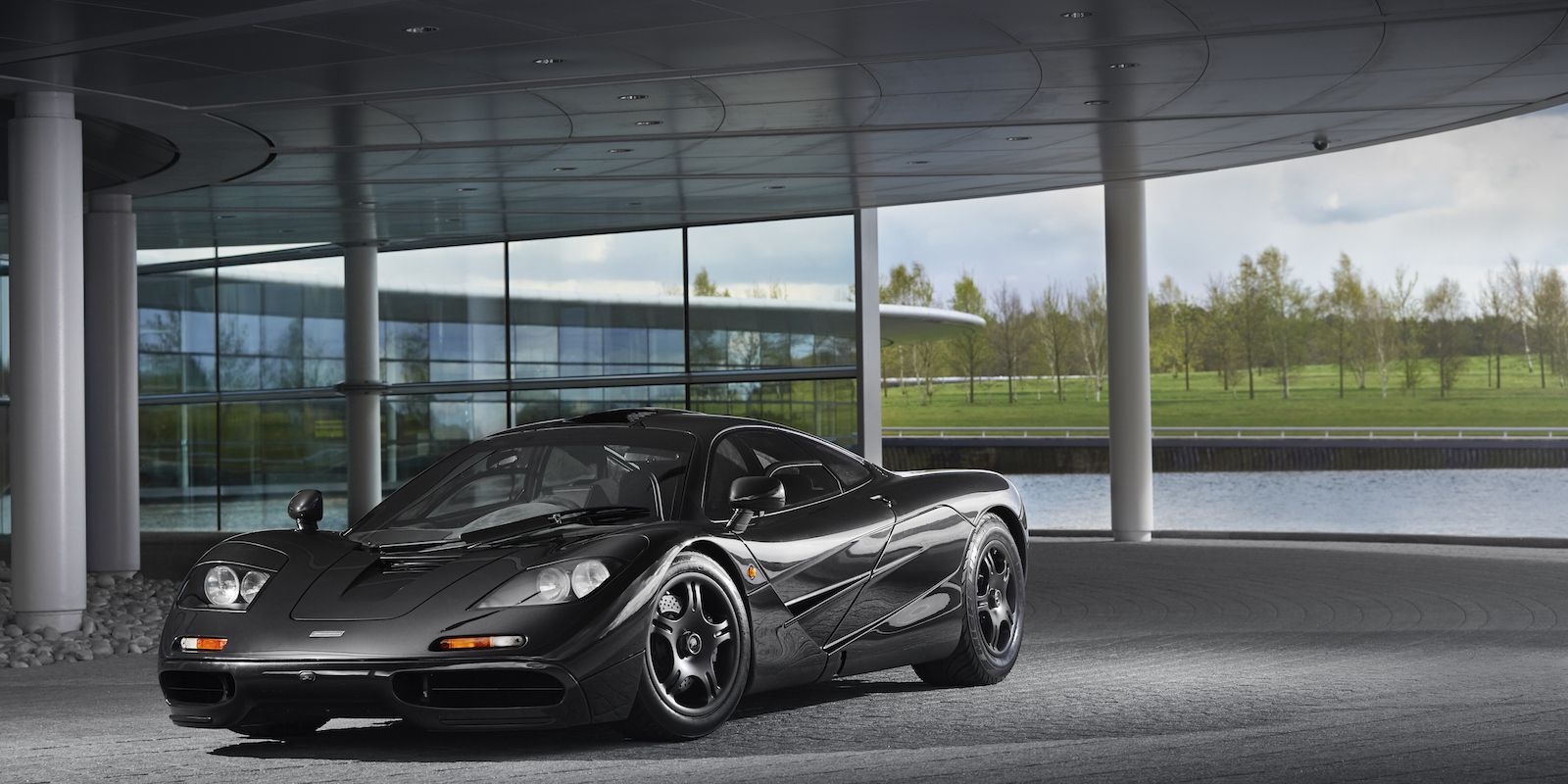 bask in the magnificence of this all-black mclaren f1