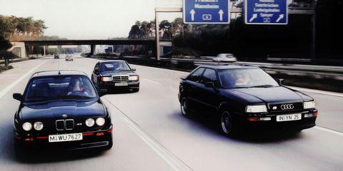 Clash of the Teutons: BMW M3 Sport Evolution vs. Audi Coupe S2 vs. Mercedes 190E 2.5-16 Evo II
