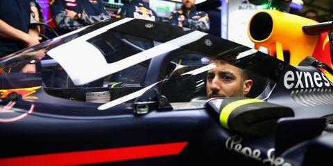 Daniel Ricciardo Red Bull Aeroscreen