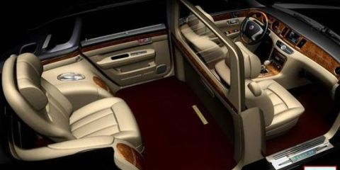 <p>The Geely GE is China's version of a Rolls-Royce. There are technically three seats, but passenger sits alone in the back. It looks incredibly luxurious, but riding in the GE also seems like it would get lonely after a while.</p>