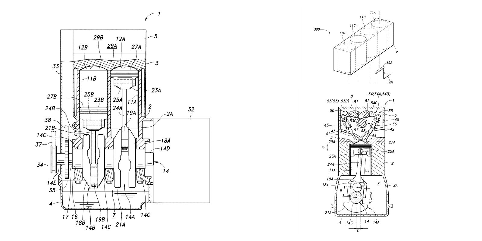 Honda Patents Engine With Two Different Stroke Lengths Schematic Diagram