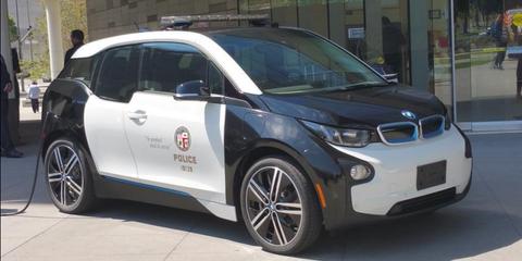 Tesla Model S P85d Police Car Lapd Tests Electric Police Cars