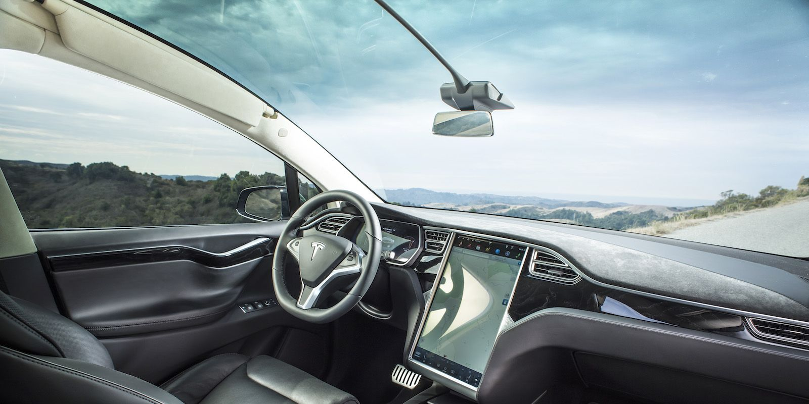 Tesla x windshield