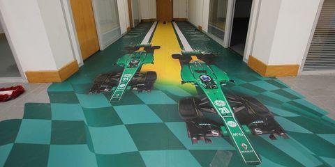 Caterham F1 abandoned floor
