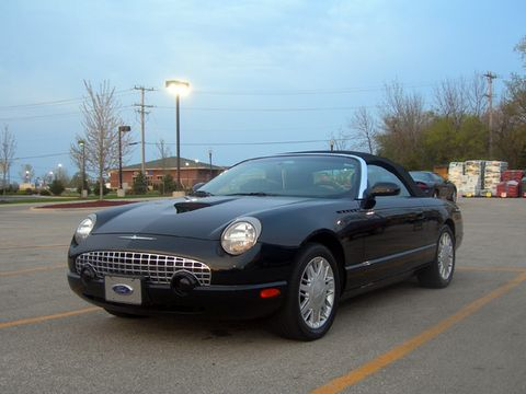 <p>After a five-year absence, the legendary Ford Thunderbird nameplate returned for 2002 as a rounded tribute to the original T-Birds of the 1950s. It certainly appealed to an older crowd that appreciated the look, but younger buyers weren't into the styling that resembled a used soap bar. </p><p>Under the skin, the 'Bird had promise. It rode on the same rear-drive chassis as the Lincoln LS and Jaguar S-Type (Jaguar was owned by Ford at the time) and used a version of the Jag V-8, making 252 hp paired to a five-speed automatic. That sounds like a recipe for a relatively exciting car. But instead of firming the chassis for fun back-road driving, Ford tuned it for a relaxing ride. This was a real Palm Beach cruiser—especially when painted in one of several retro pastel hues. Unfortunately, it was not the hot seller Ford had hoped for.</p>