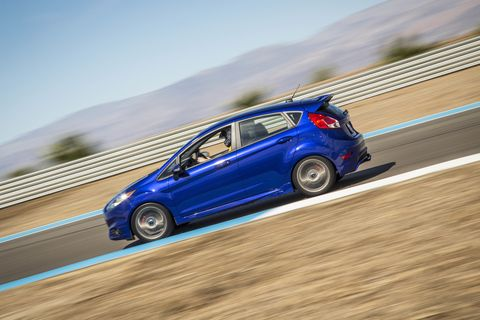 Don't have the $36,000+ for the Focus RS? Then you can just go to the Fiesta ST. The starting price is just below $21,000, and it's one of the most fun cars you can buy today.