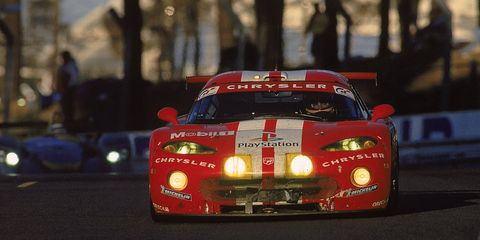 <p>Le Mans in mid- to late-1990s was filled with all sorts of racing badassery, but the Viper GTS-R still manages to stand proud. It won its class three years in a row between 1998 and 2000. You have to applaud the French Oreca team for taking the 8.0-liter V10 to the Circuit de la Sarthe.</p>