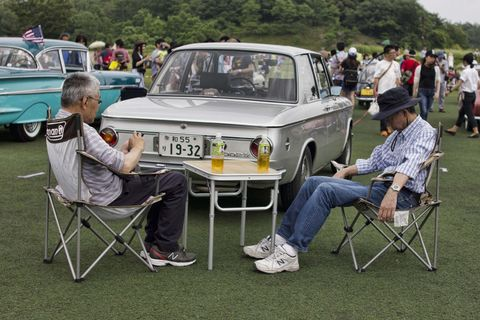 <p>        BMW 2002TI that looks a lot less tired than its owner</p>