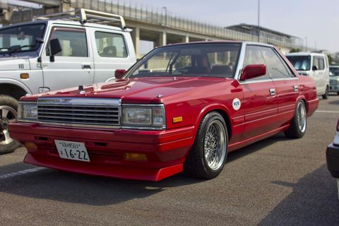 <p>        Nismo stickered Nissan Cedric 430</p>