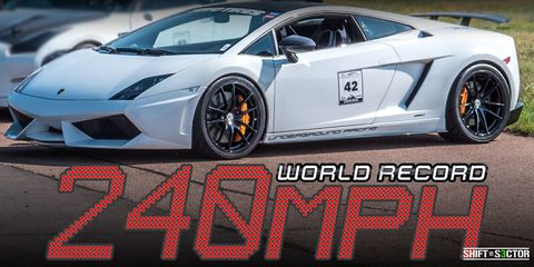 Watch a 2300HP Lamborghini Blast to 240 MPH In Just a Half a Mile