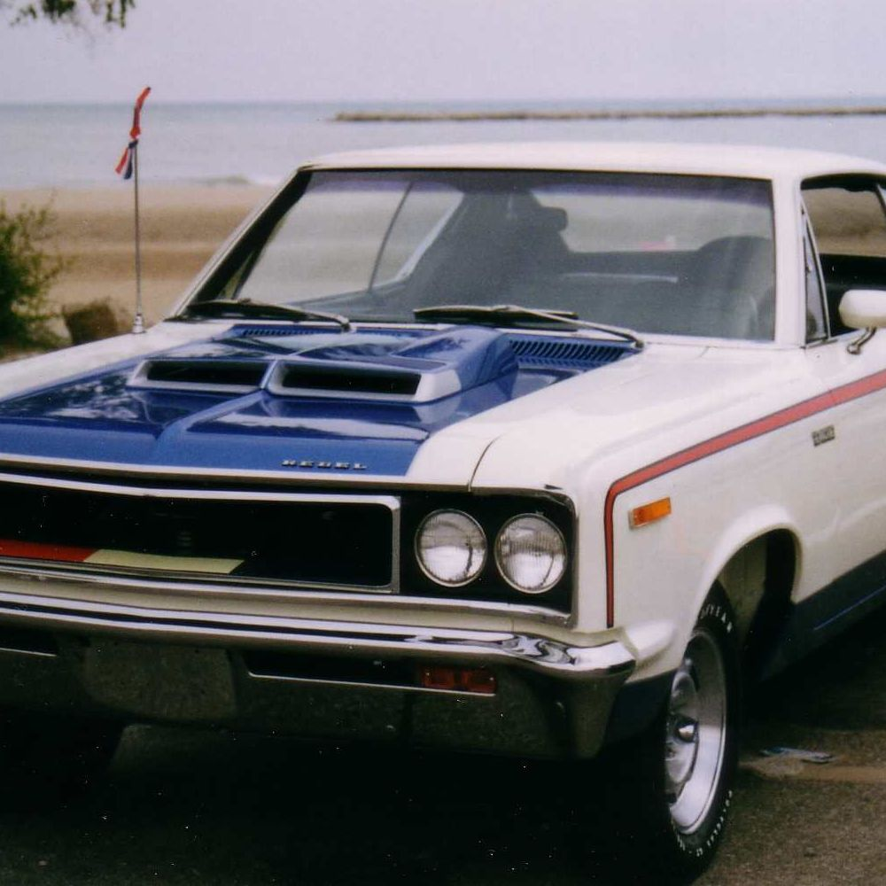 """<p>If you didn't get your driver's license while piloting an AMC Gremlin, you might not harbor the dark feelings many of us have when we hear """"American Motors."""" The ones who brought us the Pacer, the Matador, and the Gremlin took a stab at selling a race car and the effort was noteworthy. A 390 CI engine pushed the Rebel Machine down a quarter mile in the 14s, but with mods a skilled weekender might apply, car magazines of the time said it could get into the 12s. But, like pretty much everything else sold by AMC at the time, its looks were not its best suit. Even dressed up in red, white and blue for the upcoming Bicentennial.</p>"""
