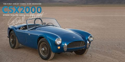 First Shelby Cobra For Sale - Carroll Shelby's Personal