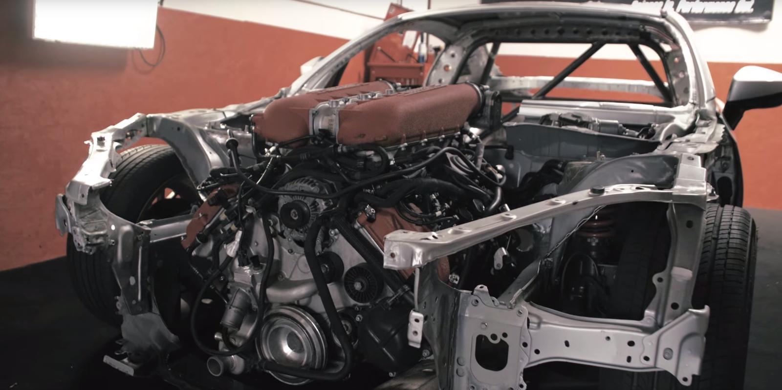 Someone Stuffed A Ferrari 458 S V8 Into A Toyota 86