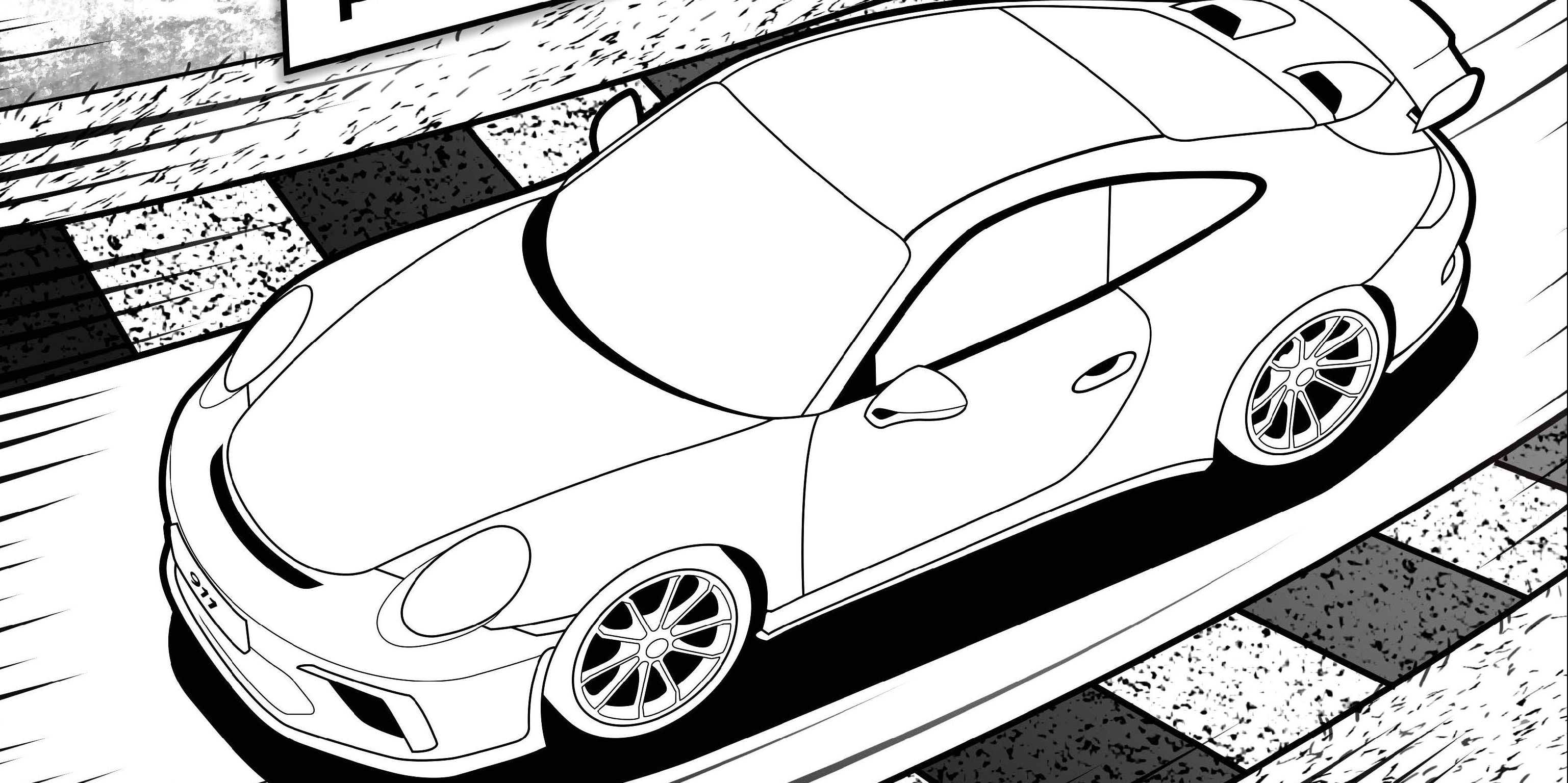 Next Gen Porsche 911 Gt3 Leaked In A Children S Coloring Book