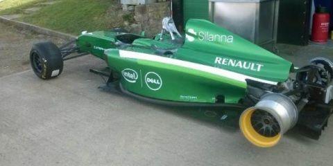 Kevin Thomas Caterham F1 wheels