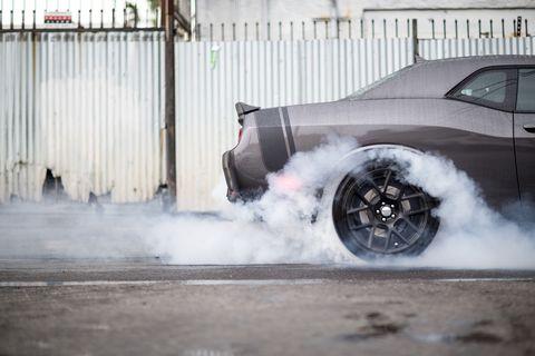 Dodge Challenger Burnout Getty