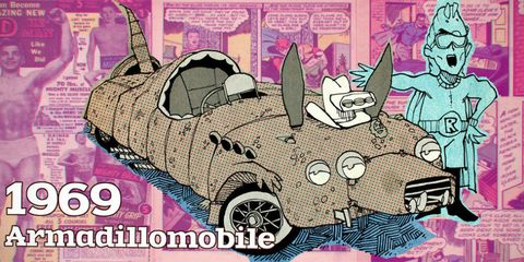 """Our Modest Car Collection: 1969 Langudini Zoetrope """"Armadillobile"""""""