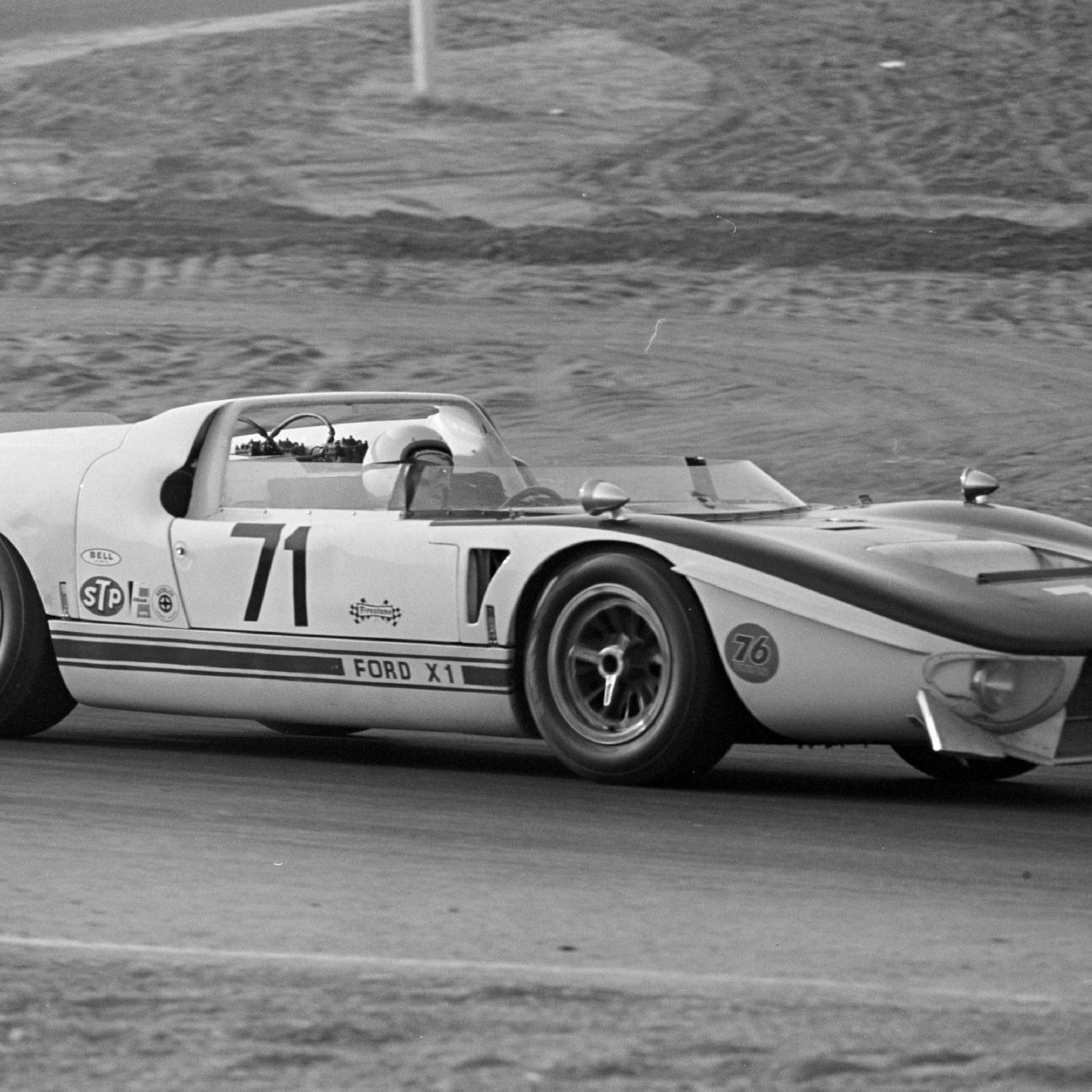 <p>A month later, Miles and Ruby won again: this time at Sebring in a wild-looking Ford X-1 roadster. The 1966 race was marred by tragedy: Canadian driver Bob McLean perished in a GT40 Mark II, and four spectators were killed. The race continued on, and the GT40s took a 1-2-3 sweep with Miles in first. He had ticked off two of the Triple Crown endurance races. Le Mans was next. </p>