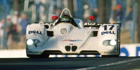 BMW won the 24 Hours of Le Mans just once, in 1999, only its second year of racing. After it won the big one, it didn't retire quietly: it kept racing for another year and a half. Not even a dramatic backflip at Road Atlanta could stop it from competition. BMW has yet to return to Le Mans, but for just a few years at the end of the Nineties, all the German carmakers fought it out in France, with factory efforts. And the LMR staked its claim in history.
