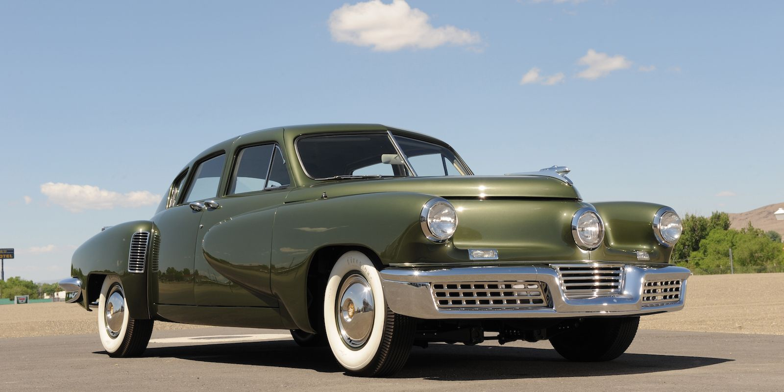 "<p>Preston Tucker's first and only car saw many innovations that took years for other manufactures to adopt. Unfortunately, <a href=""http://quizcards.info/car-culture/a29351/what-tesla-needs-to-learn-from-tucker/"" target=""_blank"">production was stopped</a> after only 51 cars were made due to an SEC investigation–likely egged on by Detroit carmakers threatened by upstart Tucker's promise.</p>"