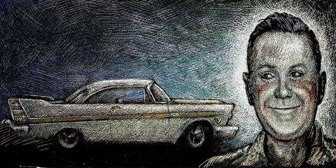 Automotive design, Eyebrow, Vehicle door, Car, Classic car, Art, Automotive parking light, Artwork, Luxury vehicle, Hood,