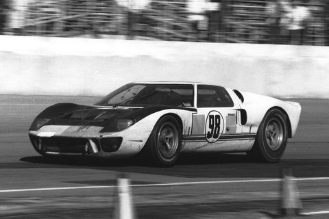 "<p>Miles and Ruby returned to tackle Daytona in February of 1966, the first year it was extended to 24 hours. The two not only had Pedro Rodriguez's Ferrari to contend with, but also the devilishly quick Chaparral 2 and the sleek Porsche 906's first race. For their first 24-hour race, the GT40s triumphed. The rivalry was more heated than ever. Said Motorsport Magazine: ""... in the closing minutes, the Fords looked as though they could have done another 24 hours.""</p>"