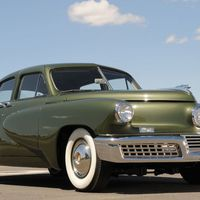 """<p>Preston Tucker's first and only car saw many innovations that took years for other manufactures to adopt. Unfortunately, <a href=""""http://www.roadandtrack.com/car-culture/a29351/what-tesla-needs-to-learn-from-tucker/"""" target=""""_blank"""">production was stopped</a> after only 51 cars were made due to an SEC investigation–likely egged on by Detroit carmakers threatened by upstart Tucker's promise.</p>"""