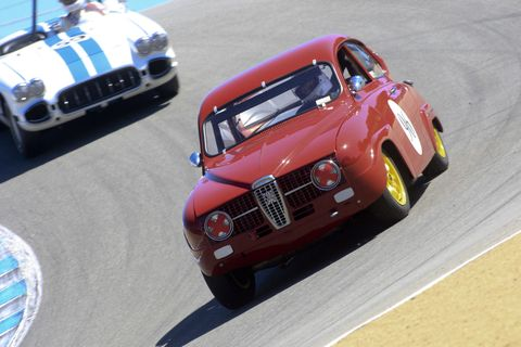 "<p>""You'd have to be to mad to race a Saab at the Rolex Monterey Motorsports Reunion,"" <a href=""http://www.roadandtrack.com/car-shows/monterey-weekend/a30185/1960s-saab-monterey/"" target=""_blank"">many said</a>. Good thing Paul Perry is just a little bit mad.</p>"