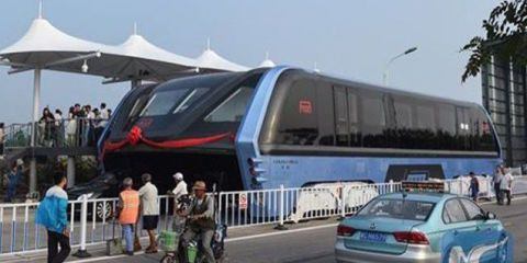 According to State-Run Chinese Media, the Elevated Bus is a Scam