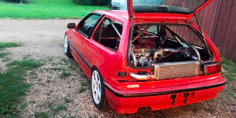 This Turbo Mid-Engine Civic Is Everything That's Right About