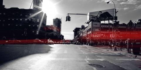 Street, Street light, Lens flare, Sun, Crane,