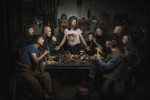 Nine Photos of Car Mechanics Recreating Famous Renaissance Paintings