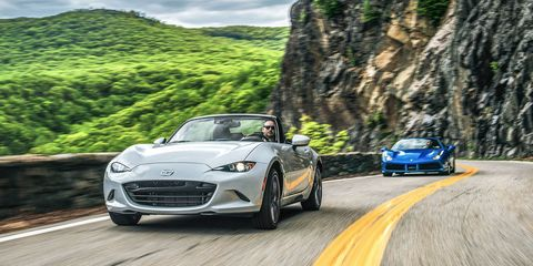 2016 Ferrari 488 Spider vs  2016 Mazda Miata Grand Touring