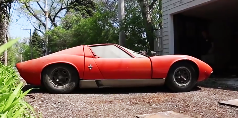This Barn Find Lamborghini Miura Is Back On The Road After