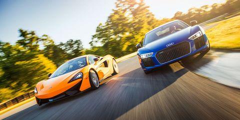 Audi R V Plus Vs McLaren S The Battle Of Shenandoah - Audi r8 quarter mile