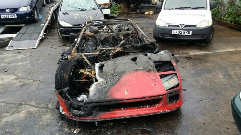 Newly Restored Ferrari F40 Burns To The Ground