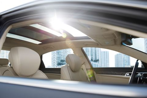 """<p>Let the sun in, but only if you want to with a panoramic sunroof that&nbsp;not only extends from windshield to back window, but also tilts to let the air in. And if you tire of the sun and its warming glow, you'll want a power rear sunshade for the back window, and manual rear window shades for your exalted friends. <span class=""""redactor-invisible-space"""" data-verified=""""redactor"""" data-redactor-tag=""""span"""" data-redactor-class=""""redactor-invisible-space""""></span><span class=""""redactor-invisible-space"""" data-verified=""""redactor"""" data-redactor-tag=""""span"""" data-redactor-class=""""redactor-invisible-space""""></span><span class=""""redactor-invisible-space"""" data-verified=""""redactor"""" data-redactor-tag=""""span"""" data-redactor-class=""""redactor-invisible-space""""></span></p>"""