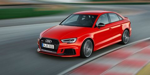 2017 Audi RS3 Sedan: Crammed With 400 Horses and Coming to the U.S.