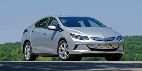 The all-new, second-generation Chevy Volt improves on its groundbreaking predecessor in nearly every way, from its less-bizarre styling to its higher-quality, ergonomically sound interior that now seats five, one more than the original. Its drivetrain can operate in pure-EV mode for an EPA-estimated 53 miles, the most of any car on this list save for the BMW i3, and once the battery is depleted, it can travel another 400 miles or so down the highway.